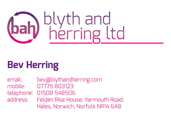 Blythe & Herring business card